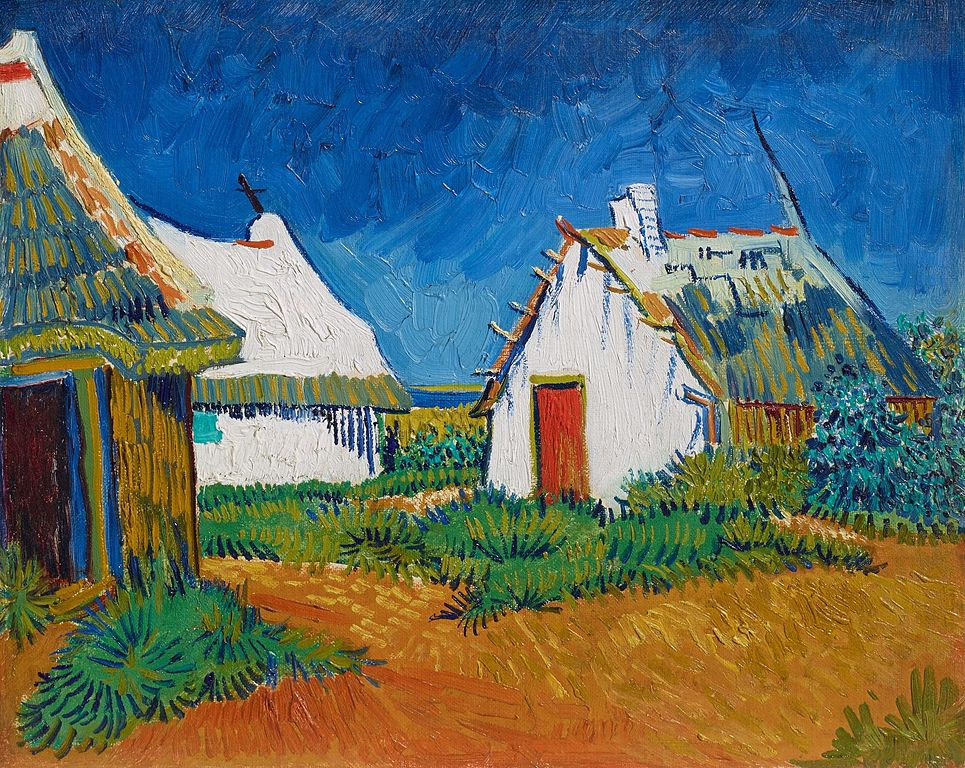 """Vincent van Gogh, """"Cabanes blanches aux Saintes-Maries,"""" 1888."""