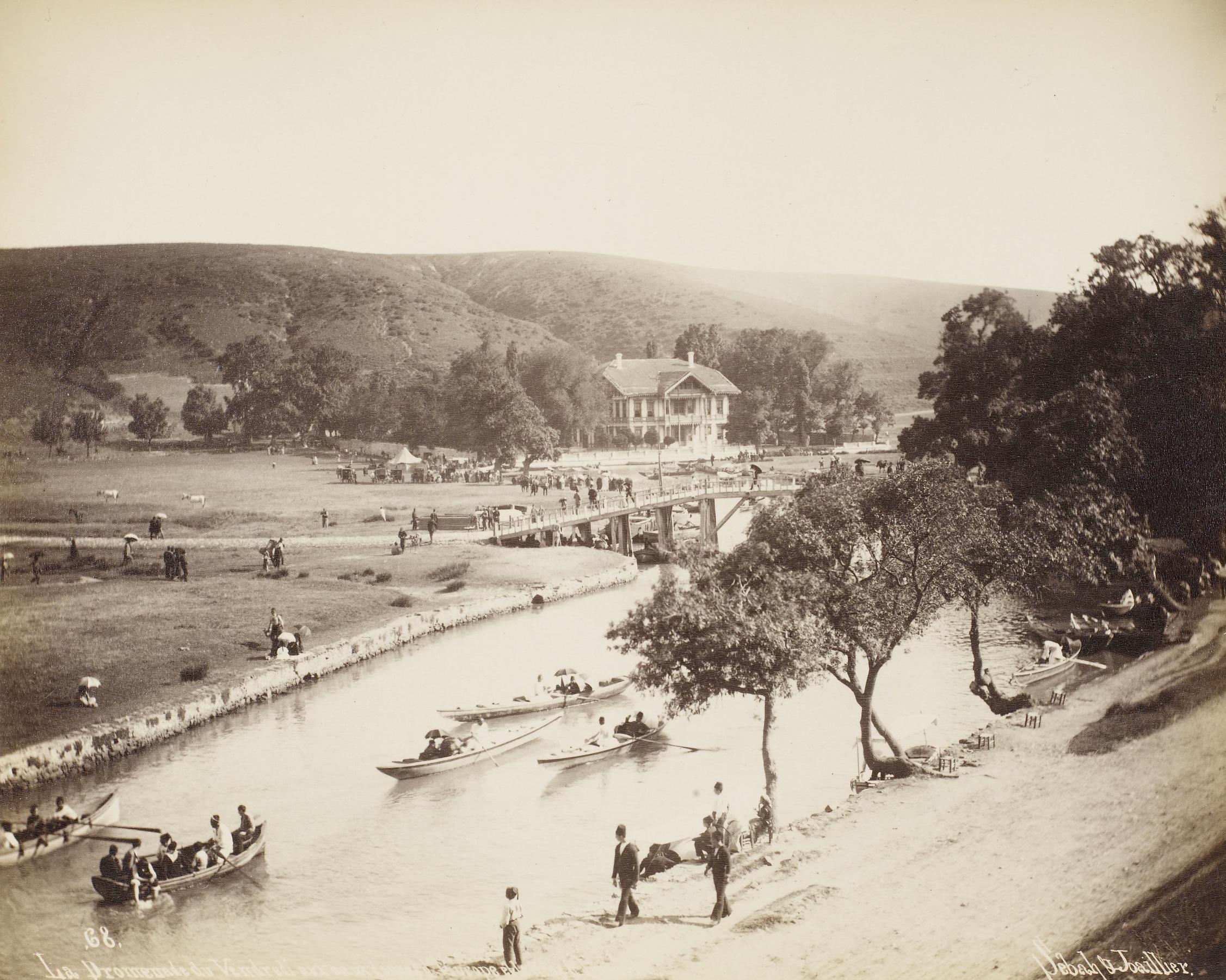 Kağıthane Valley. Photograph by Jean Pascal Sébah (1872–1947), c. 1884–1905. Public domain.