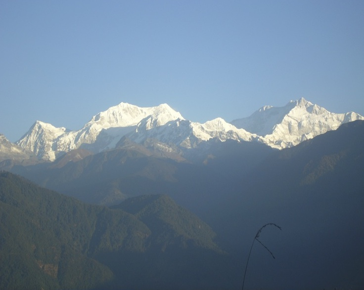 Kanchendzonga, the mountain deity protector of Sikkim. Photograph by Kalzang Dorjee Bhutia. CC BY 4.0.